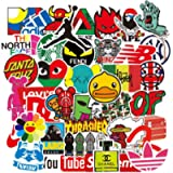 105 pcs Street Fashion Brand Cool Waterproof Stickers for Laptop Vinyl Stickers Pack Decals for Waterbottle Motorcycle…