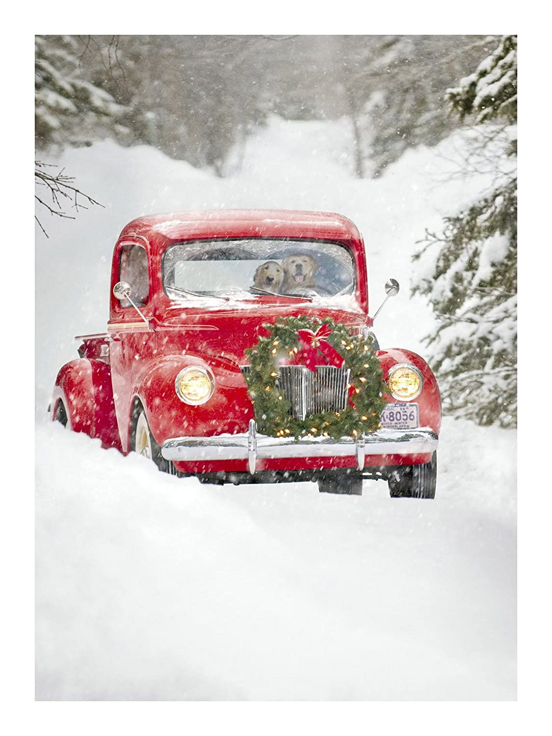 Amazon avanti christmas cards old fashioned truck 10 count amazon avanti christmas cards old fashioned truck 10 count blank greeting cards office products kristyandbryce Image collections