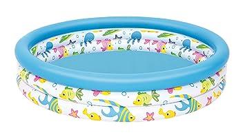Color Baby-51009 Bestway. Piscina Infantil Coral 51009, Multicolor, 122 x 25 cm