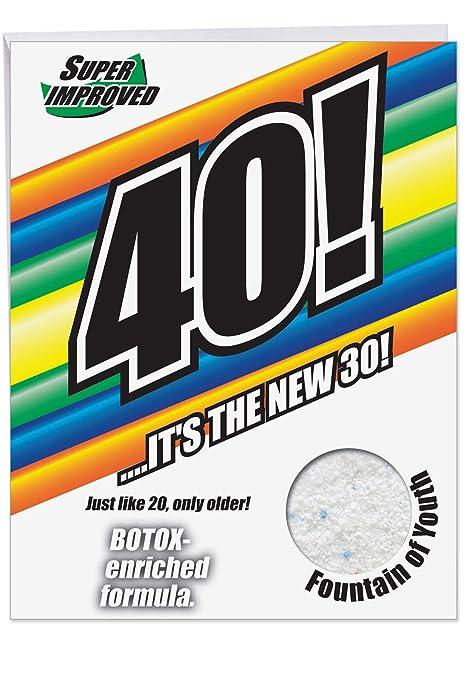 Amazon.com: 40 es el nuevo 30 cumpleaños Humor Tarjetas de ...