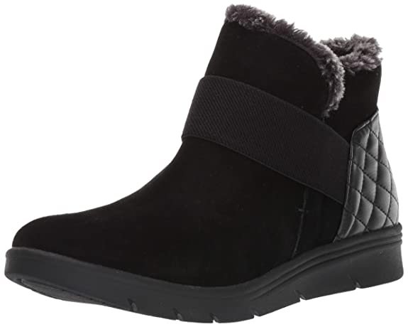 Easy Spirit Women's Grizzly Ankle Boot, Black, 8.5 M US