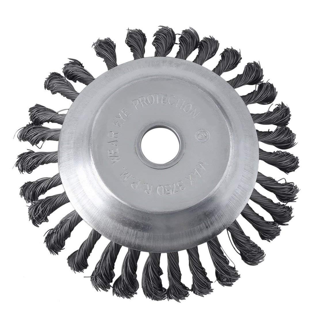 runde twist wire wheel bürste zum bürsten- / unkraut schneiden