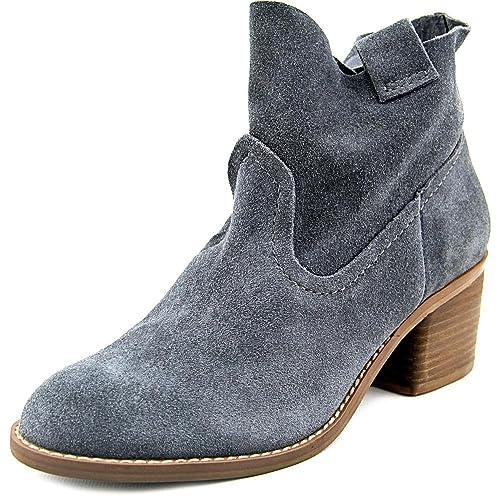 Carlos by Carlos Santana Leighton - Botas de Piel para Mujer Titanio, Color Gris, Talla 35.5: Amazon.es: Zapatos y complementos
