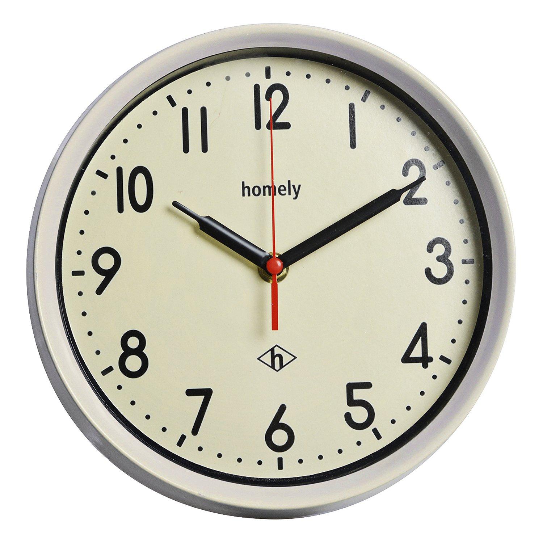 official photos 34907 4ceff Amazon.com: Hattrick 置ki時計 · WALL CLOCK WHITE 22 × 22 ...