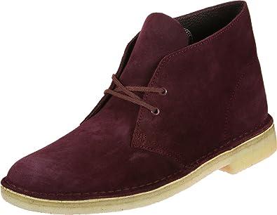 Clarks Originals Desert Boot Chaussures Bordeaux Suede