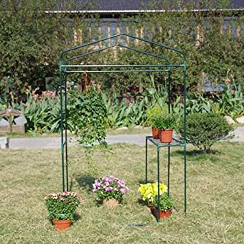 Invernaderos Jardin, Al Aire Libre Planta De Cabaña Impermeable Flores Plantando Vivero De Flores PE 2 Colores BAI Yin (Color : Clear, Size : 122X92X186CM): Amazon.es: Hogar