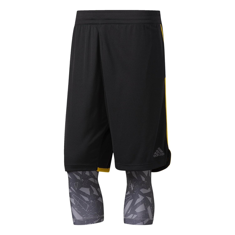 adidas ESS 2in1 Pantalón Corto de Baloncesto, Hombre