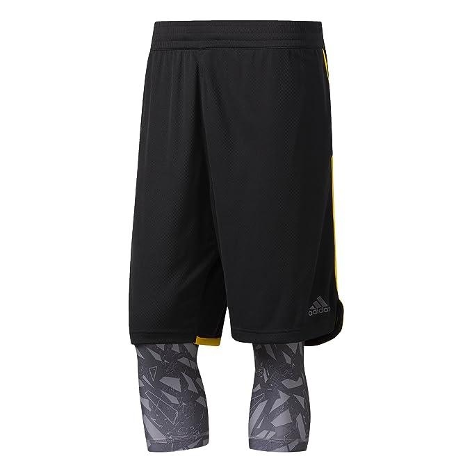 adidas ESS 2in1 Pantalón Corto de Baloncesto, Hombre: Amazon.es ...