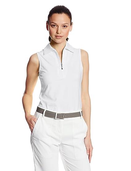 a6f26ea6 Amazon.com : Jofit Performance Sleeveless Polo - White : Golf Shirts ...
