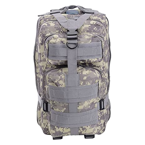 2267539bf AW 30L 600D Tactical Army Rucksacks Molle Backpack Waterproof Camping  Outdoor Hiking Trekking Bag ACU Camouflage