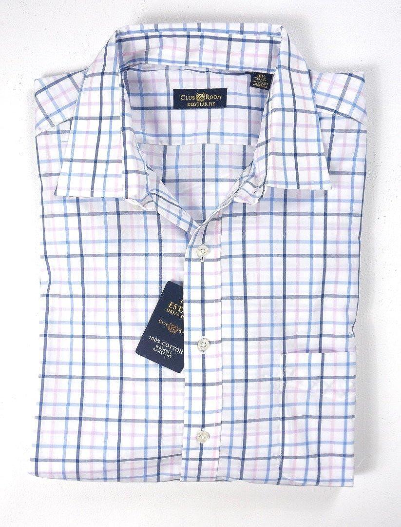 Club Room Mens Classic-Fit Check Dress Shirt