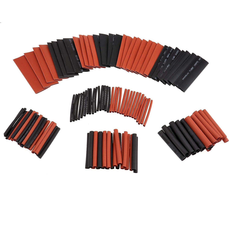 Create Idea 127Pcs 8 Sizes Car Electrical Cable Heat Shrink Tube Tubing Wrap Sleeve Assorted