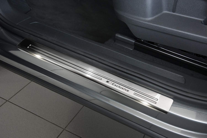 Tuning-Art L208-EX128 Edelstahl Ladekantenschutz und Einstiegsleisten fahrzeugspezifische Passform
