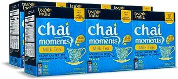 Tea India Chai Moments Instant Milk Tea, 10 Count (Pack of 6)