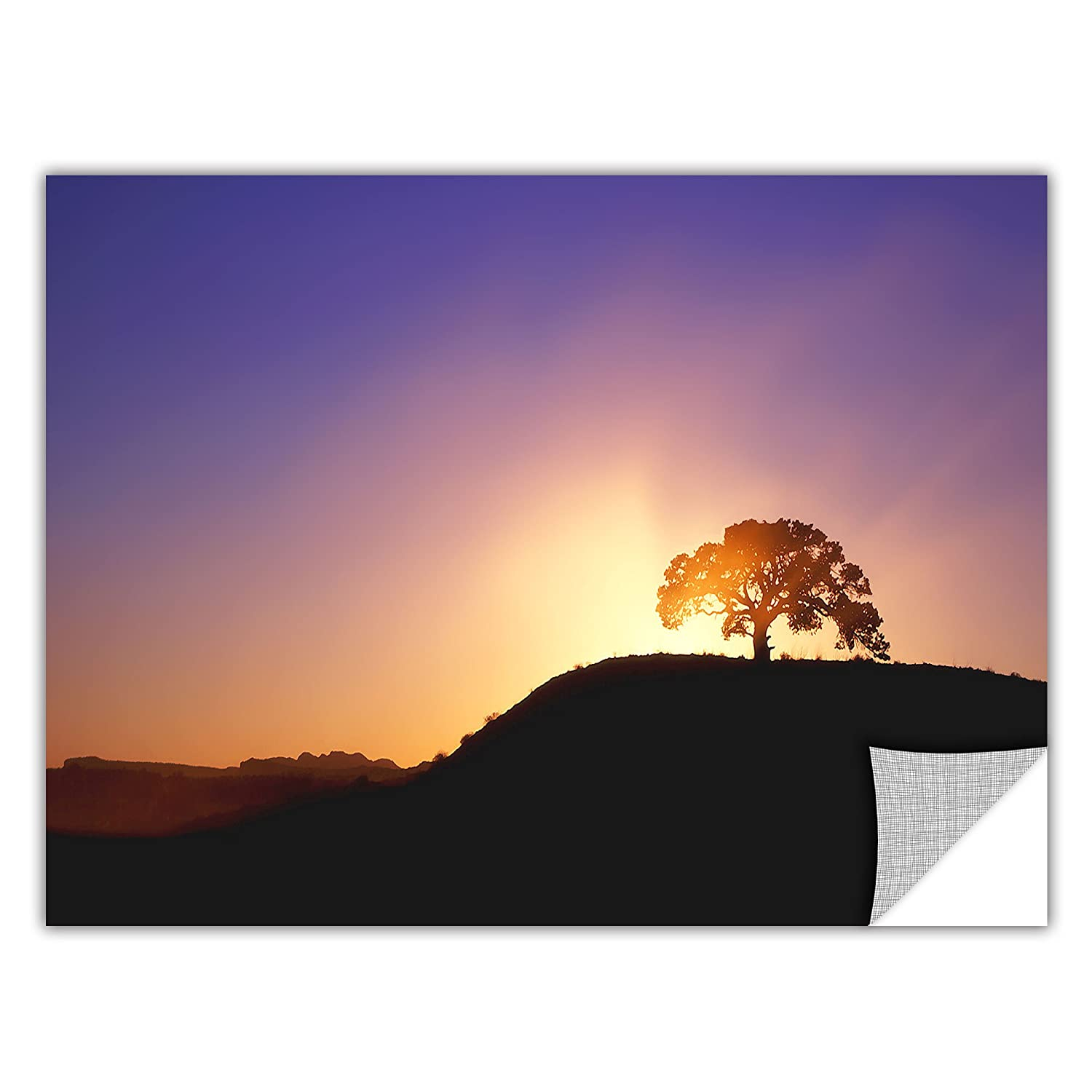 ArtWall Appealz Dean Uhlinger Dust Cloud Sunset Removable Graphic Wall Art 14 by 18-Inch