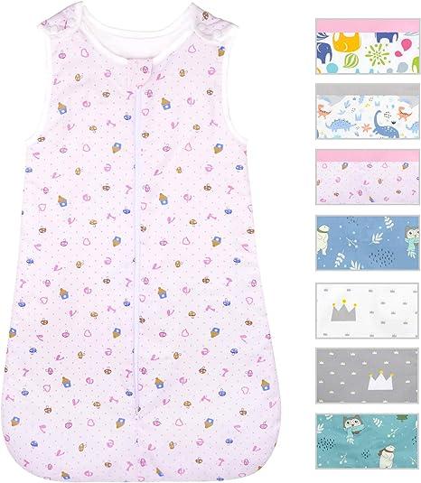 Viedouce Saco de Dormir para Bebé,Saco de Dormir de Algodón Bio para Bebés,Súper Suave,Longitud 80cm para Niño Niña(2.5Tog,3-18 Meses): Amazon.es: Bebé