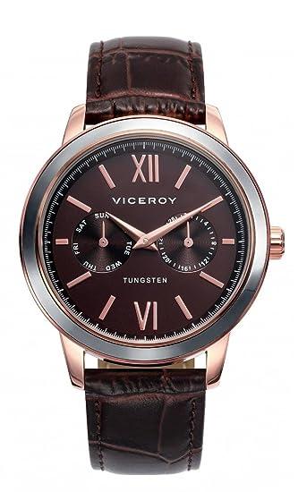 Viceroy Reloj Analógico para Hombre de Cuarzo con Correa en Cuero 40991-43: Amazon.es: Relojes