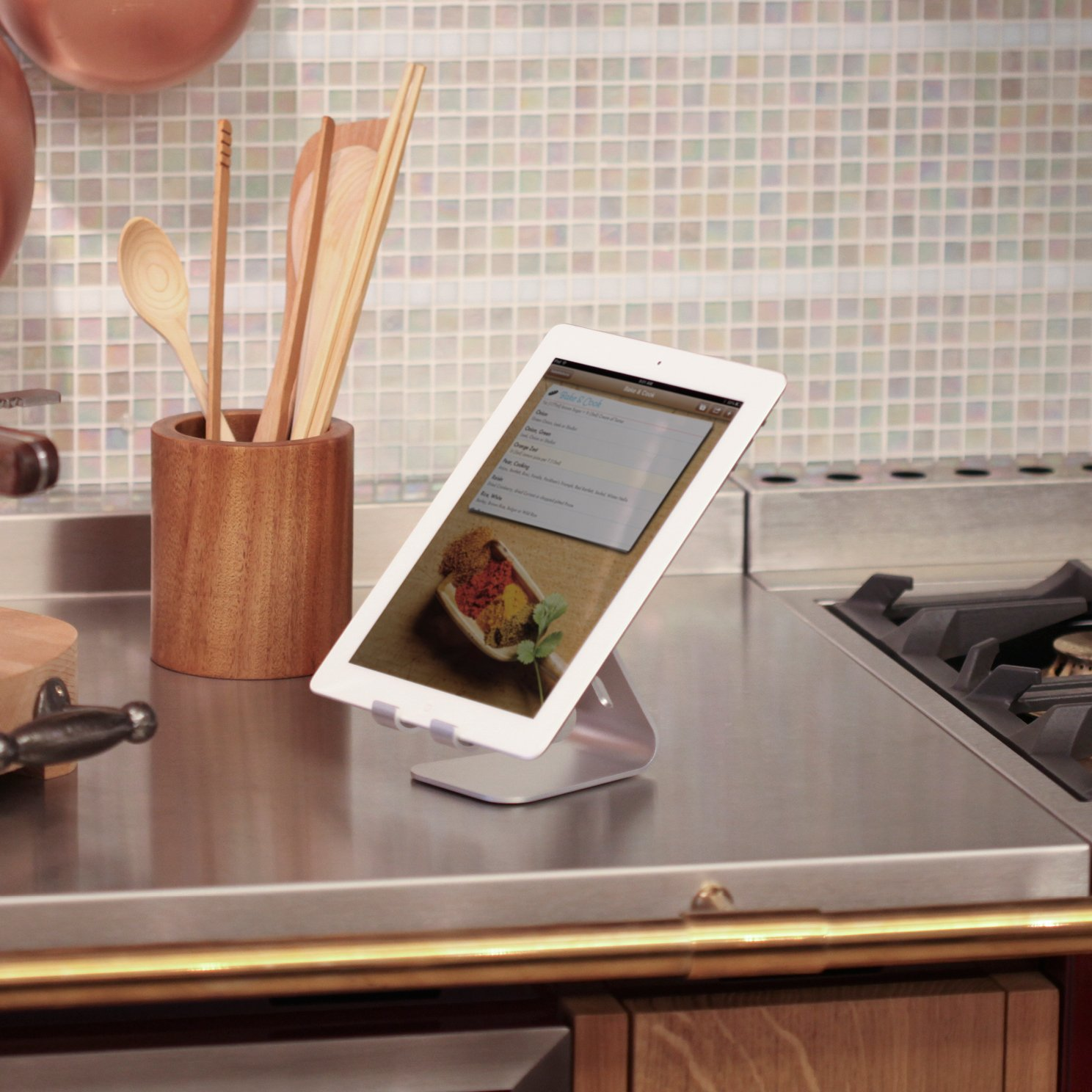 Elago P2 Stand for iPad and Tablet PC - Silver by elago (Image #1)