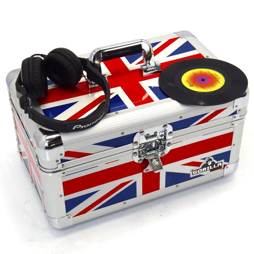Gorilla, resistente scatola porta-vinili, può contenere 200 pezzi, motivo: bandiera inglese Gorilla Cases GC-LP7200U