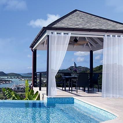 Bon RHF Outdoor Curtains, Patio Curtains, Outdoor Curtains For Patio, Grommet  Curtains, White