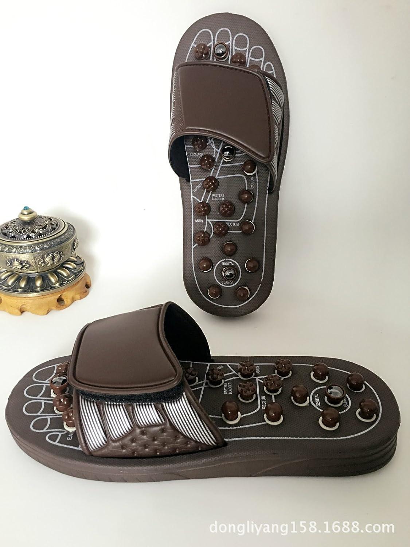 Chaussures De Massage Stretch Soins De Santé Chaussures Printemps Rotatif Magnétique Santé Massage Chaussures Produits Chauds,Brown(L)