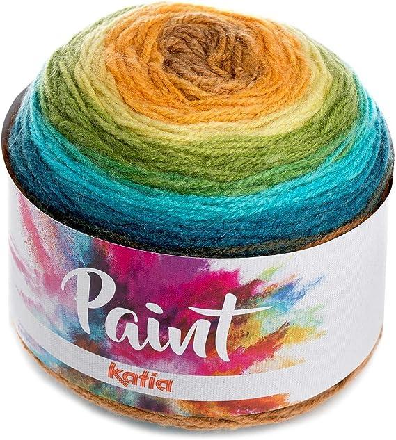 Katia 57 color de pintura una bola una chal bola de 150 G 80% acrílico 20% Lana 540 mts./590 yds con 5 mm Agujas o Ganchillo Witth 3,5 mm gancho: Amazon.es: Hogar