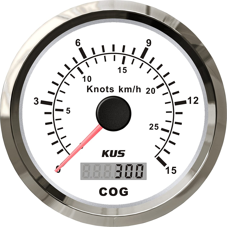 52mm Boot GPS Tachometer Digital Tacho Kilometerzähler IP67 0-999 Knot Km//h