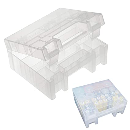 wholesale dealer 0f3e8 06c18 CASE STAR Clear Plastic Battery Storage Case Holder Battery Organizer for  AA AAA CD 9V Battery Holder Box Container