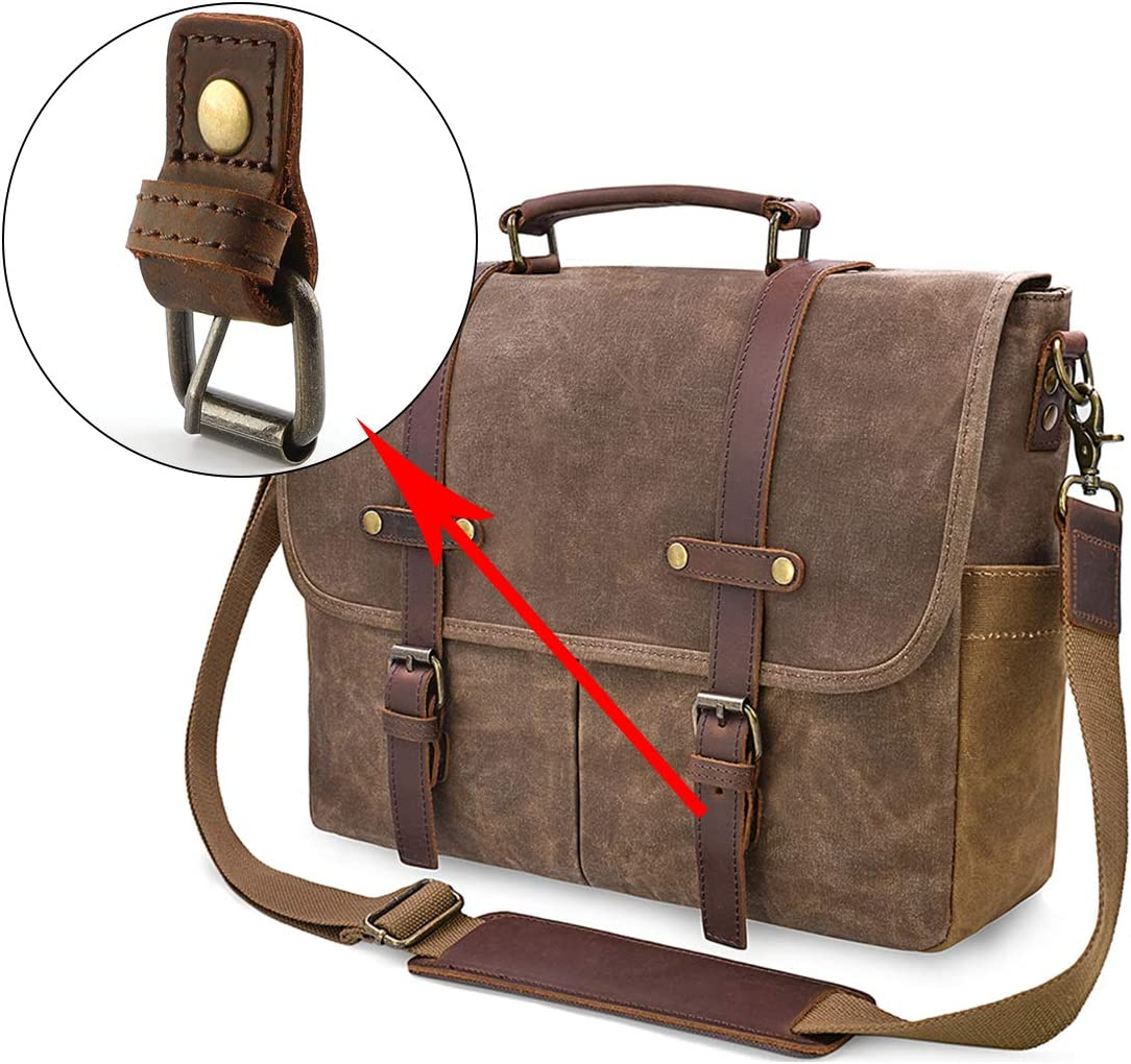Metal Buckle for Messenger Bag Strong Magnetic Buckle with Genuine Leather Fixed Handmade Roller Buckle for Duffel Bag
