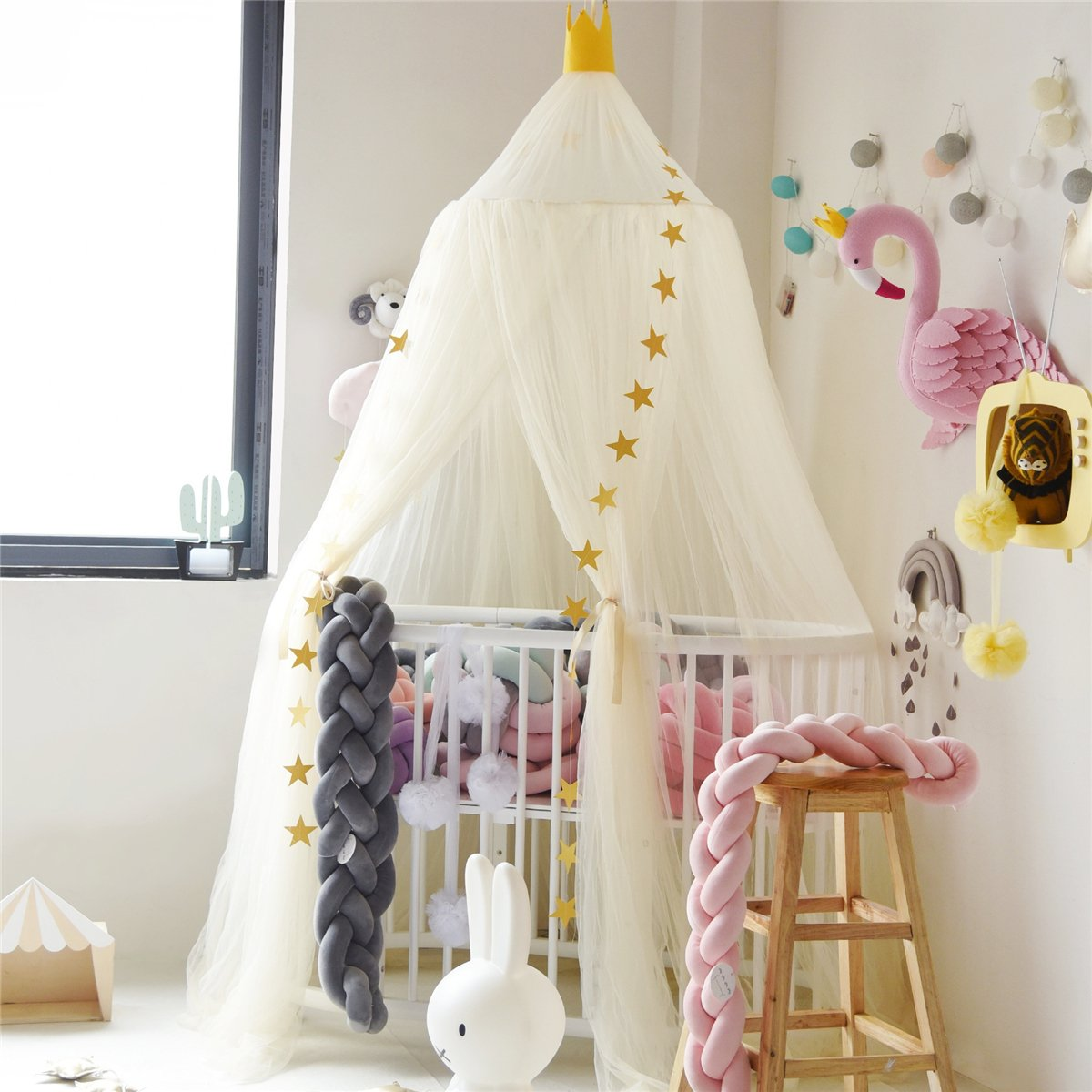 Felala Big Shark Cotton Bed Canopy Boys Room Cool Kids Canopy Crib