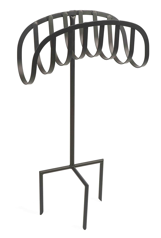 Holds 125-Feet of 5//8-Inch Hose Liberty Garden 647 Manger Style Metal Garden Hose Stand Black Certified Refurbished