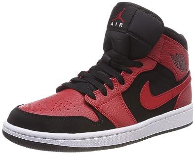 huge discount ec4b5 7548f Nike Herren Air Jordan 1 Mid Basketballschuhe schwarz weiß