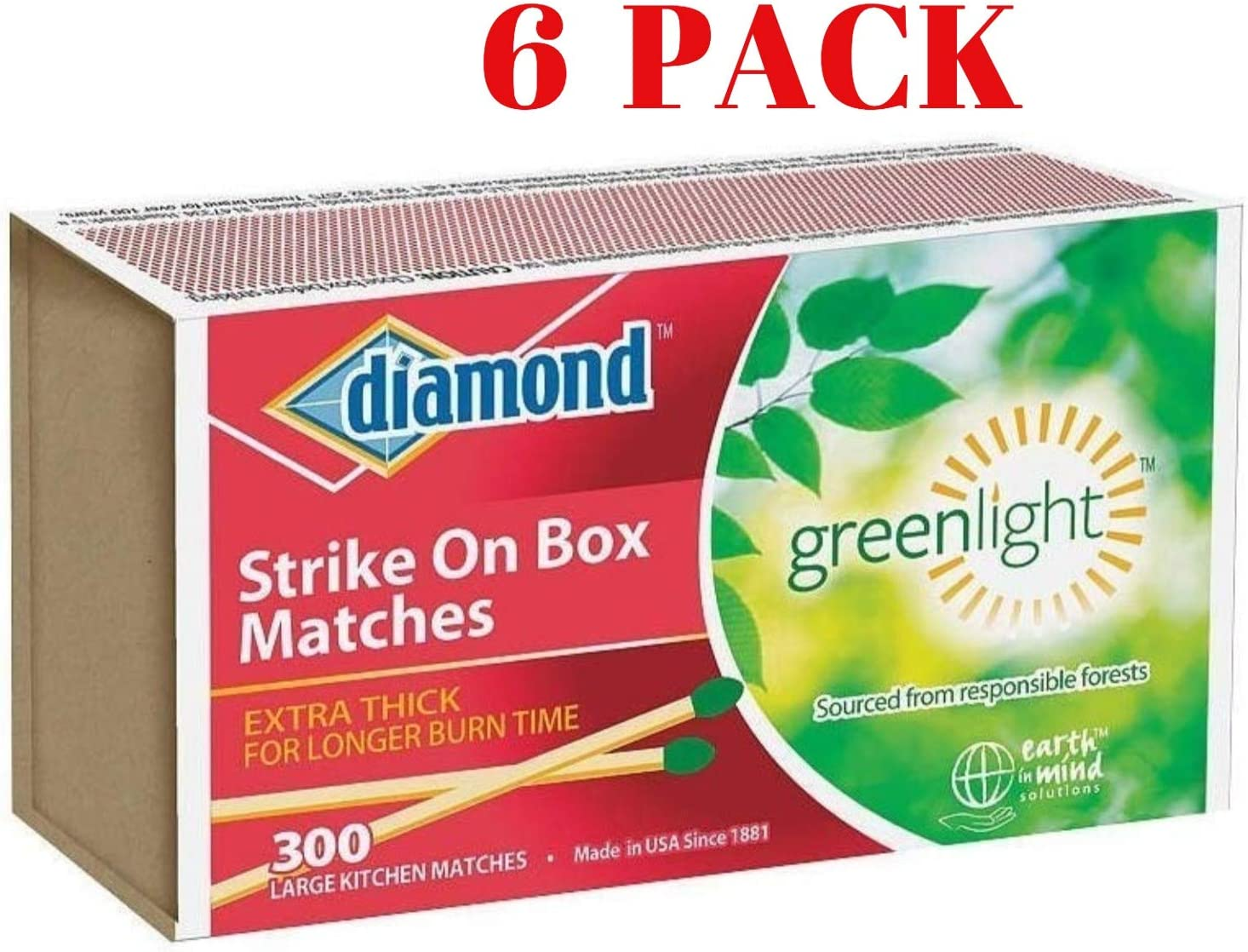 SELECT DIAMOND STRIKE ON BOX SAFETY WOODEN MATCHES Small or Large Matches