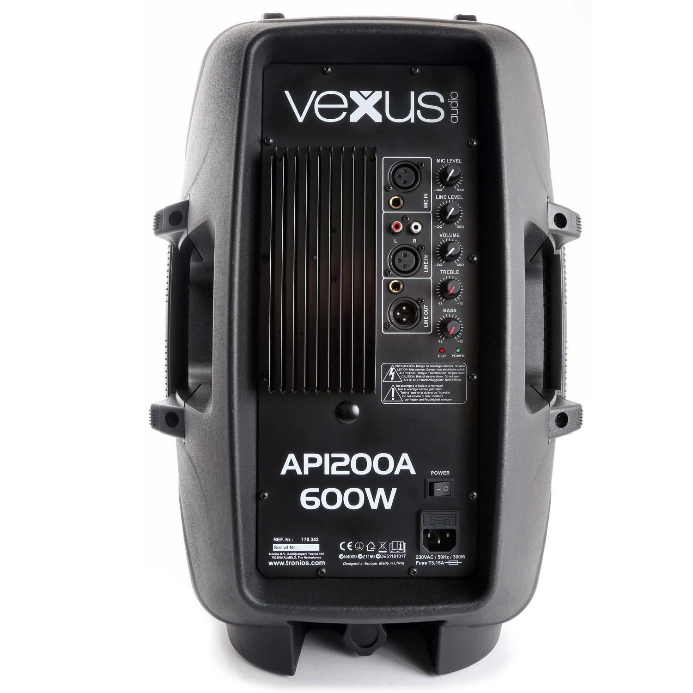 Negro Altavoz ABS Vonyx AP1200A Ap Series