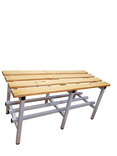 Peachy Gym Bench With Wooden Slats Width 100 Cm Amazon Co Uk Diy Theyellowbook Wood Chair Design Ideas Theyellowbookinfo