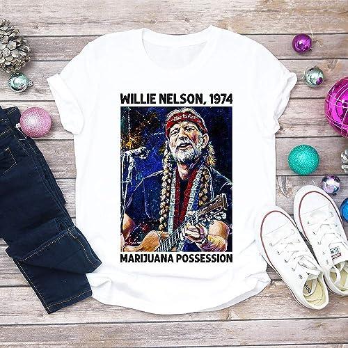 bbc5145f1e Willie Nelson 1974 Marijuana Possession, Funny Willie Nelson, Marijuana  Gift, Willie Nelson Unisex T-shirt - Premium T-shirt - Hoodie - Sweater -  Long ...