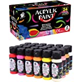 TBC The Best Crafts Premium Acrylic Paint Set,24 Bright Colors(59ml,2oz.),Large Craft Acrylic Paint for Beginners and Artist