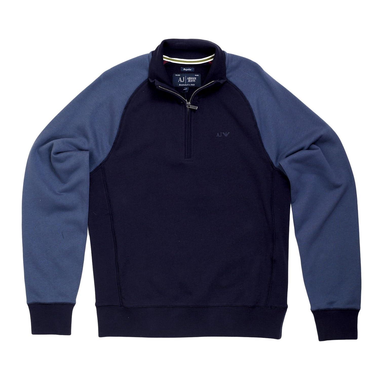 Navy Half Zip Sweatshirt By Armani Jeans AJM5146