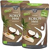 2 x borchers Bio Premium Kokosmehl | zum Kochen und Backen | Ballaststoffreich | 400 g