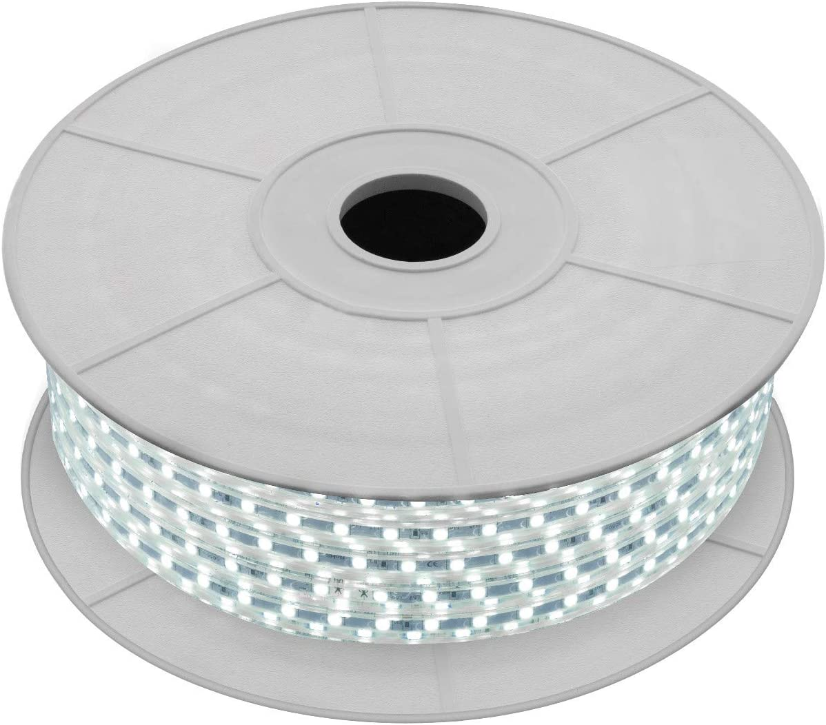 LEDKIA LIGHTING Bobina de Tira LED Regulable 220V AC 60 LED/m 50m Blanco Frío IP65 Corte a los 100cm