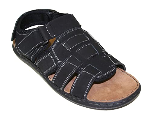 a9301d65c07b Happy Bull Men s Casual Leather Comfort Footbed Fisherman Walking Sandals  sz 6.5-13 (ALASKA