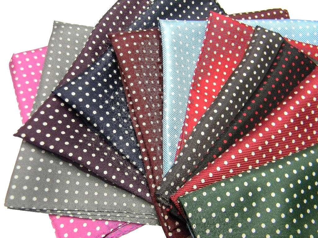 Avantgarde Fazzoletto da giacca per uomo Pochette da taschino seta a pois pallini disponibile in tutti i colori