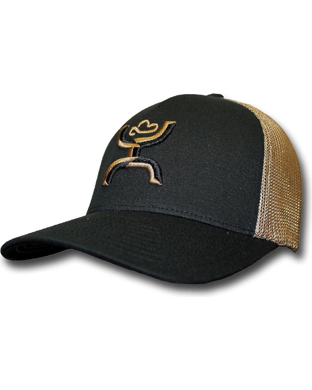 72418faee25e5 HOOey Hat Mens Trucker Flex Fit Mesh Back L XL Black Khaki 1662BKKH   Amazon.ca  Jewelry