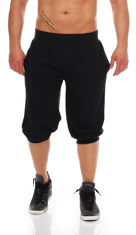 Gennadi Hoppe Herren 3/4 Jogginghose Trainingshose Sporthose Bermuda Sport Shorts Kurze Hose Capri Hose