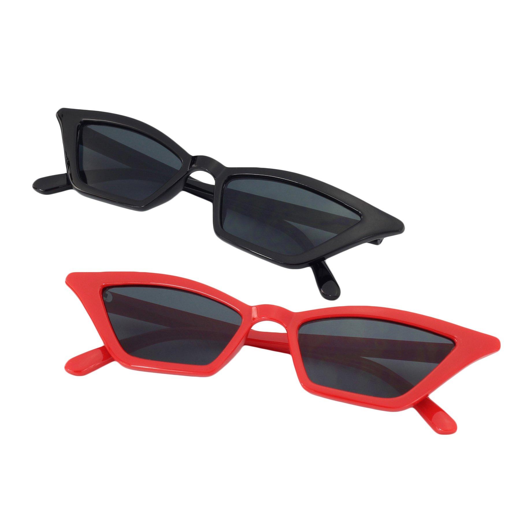 SteamedBun Skinny Sunglasses for Women Retro Cateye Glasses Slim Shades 2018