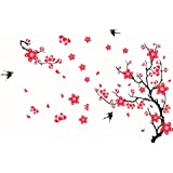 DIY Removable Wall Stickers For TV Sofa Background Decoration Plum Blossom Wall Decals For Living Room Bedroom Home Decor