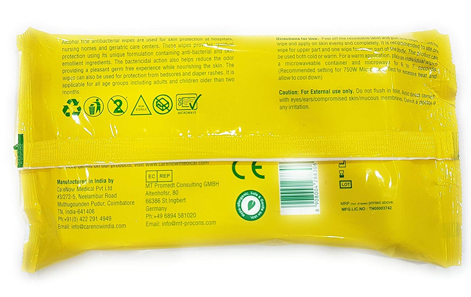 Eco Protect Skin Antiseptic Adult Bathing Wipes - X Large 10 Wipes by Carenow