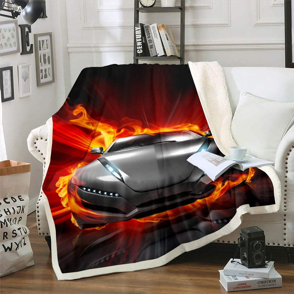 Sports Car Throw Blanket Racing Car Blanket
