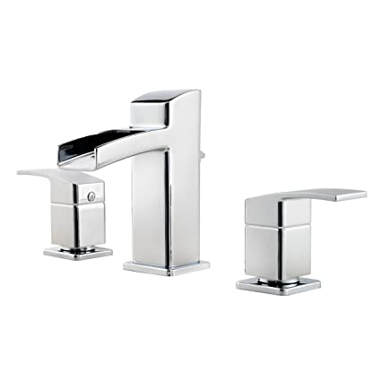 Pfister GT49DF0C Kenzo 2 Handle 8 Inch Widespread Waterfall Bathroom Faucet  In Polished Chrome