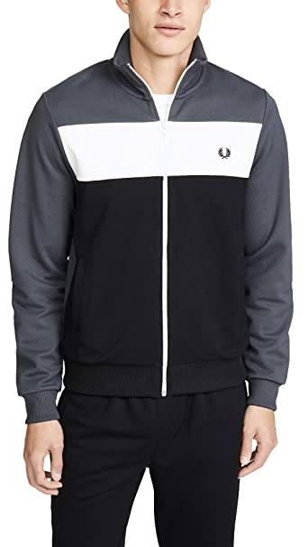 Fred Perry Hombres Chaqueta de Pista de Bloque de Color ...